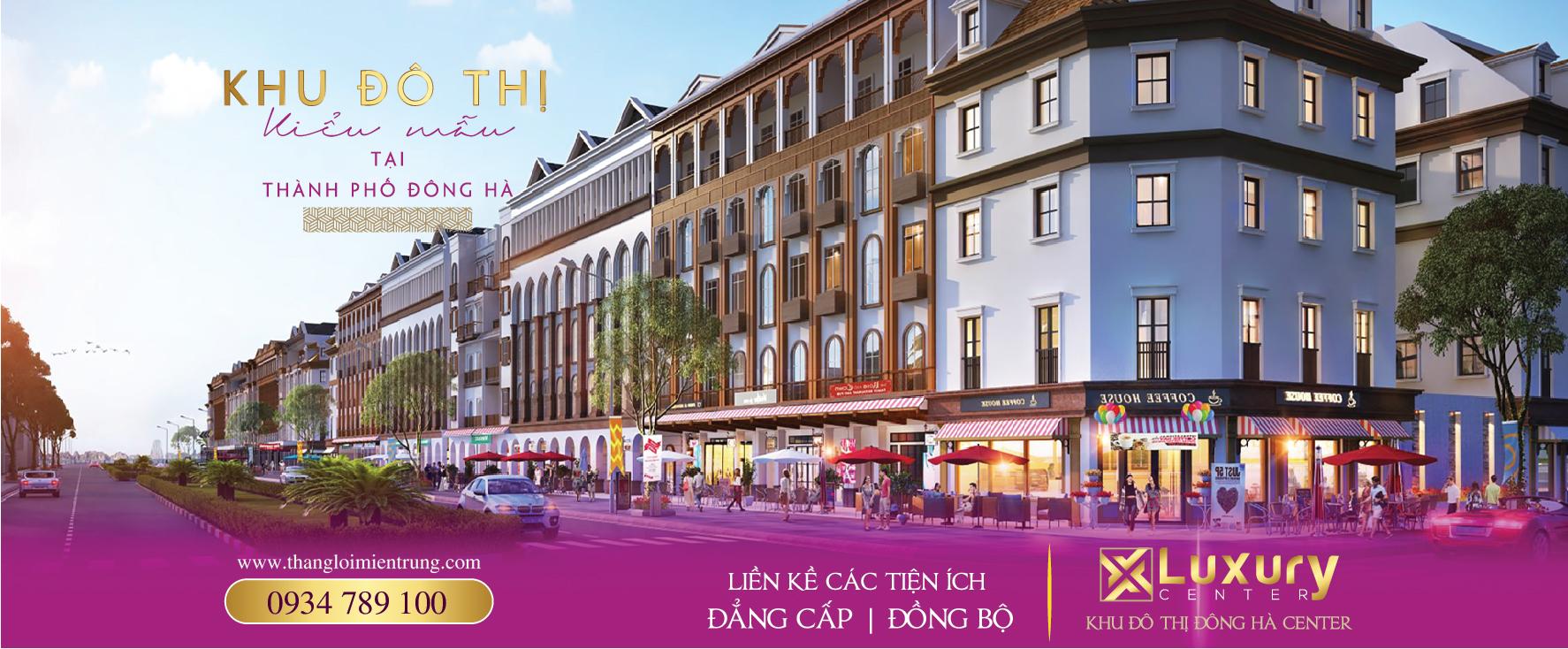 Banner mở bán dự án Luxury Center