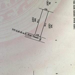 Bán đất giá rẻ tại Hoài Thanh, Thủy Xuân. Huế DT 71m2
