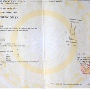 Bán đất 150m2 mặt tiền Phùng Lưu, Thủy Dương. Huế